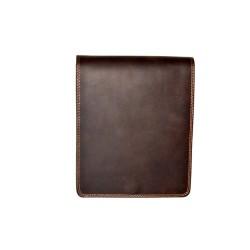 κωδ.0237 Ταχυδρομική Δερμάτινη Τσάντα με  διπλό χώρισμα